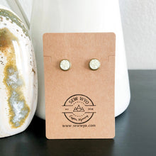 Load image into Gallery viewer, 8mm Druzy Stud Earrings