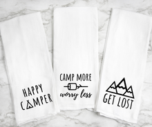 Load image into Gallery viewer, Flour Sack Kitchen Towel Trio - Multiple styles!