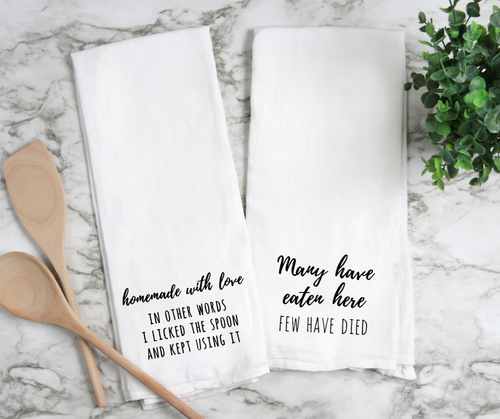 Snarky Flour Sack Kitchen Towels