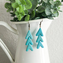 Load image into Gallery viewer, Turquoise Arrow Earrings WHOLESALE