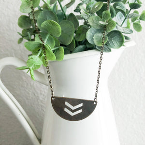 Half Moon Cutout Necklace