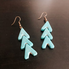 Load image into Gallery viewer, Turquoise Arrow Earrings