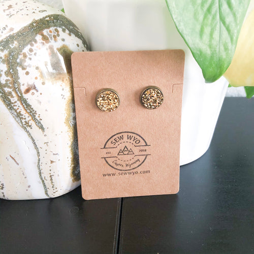12mm Druzy Stud Earrings