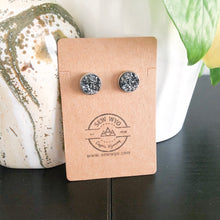 Load image into Gallery viewer, 12mm Druzy Stud Earrings