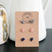Load image into Gallery viewer, Knotted Leather Stud Earrings