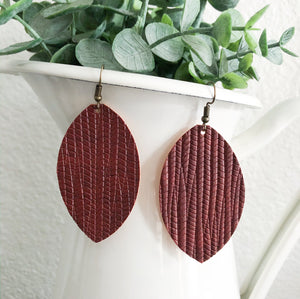 Embossed Leaf Earring WHOLESALE