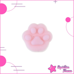 Mini squishy zampa di gatto rosa