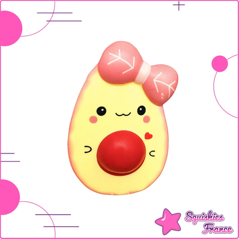 Squishy avocat kawaii rose