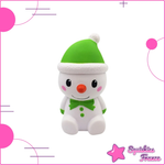 Squishy green snowman kawaii