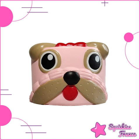 Squishy Gâteau Chien Rose - Animaux, Nourriture - Squishies France