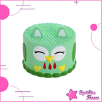 Squishy green owl cake - Animals, Food - Squishies France
