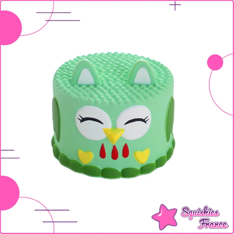 Squishy gâteau hibou vert - Animaux, Nourriture - Squishies France