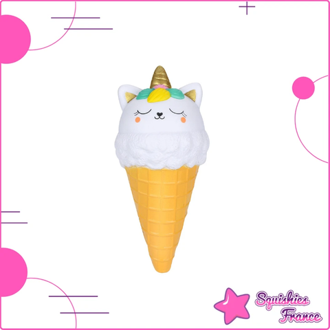 Squishy glace chat licorne