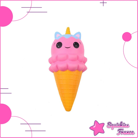 Squishy glace licorne rose