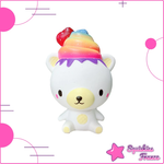 Squishy rainbow ice cream bear