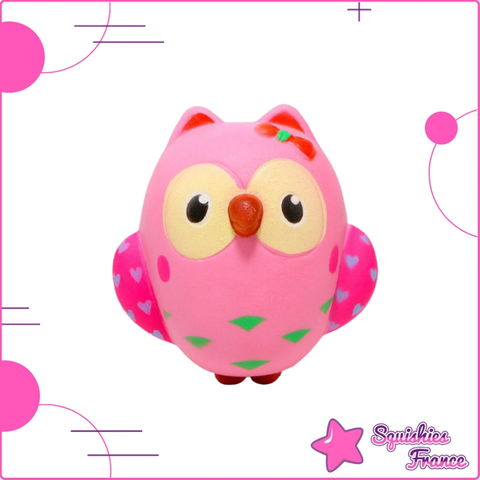 Squishy hibou rose