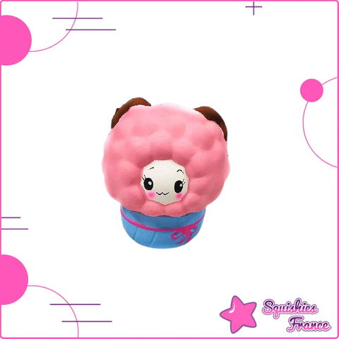 Squishy mouton emballé rose
