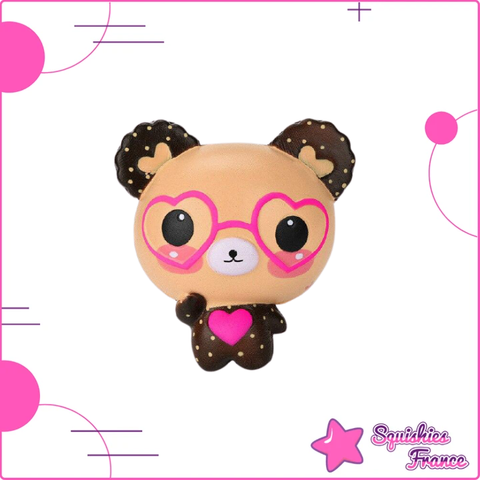 Squishy ourson à lunette kawaii