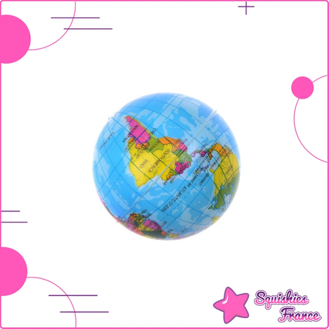 Balle anti-stress globe -  - Squishies France