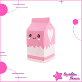 Squishy Brique de Lait Rose Kawaii - Kawaii, Nourriture, Pas cher - Squishies France