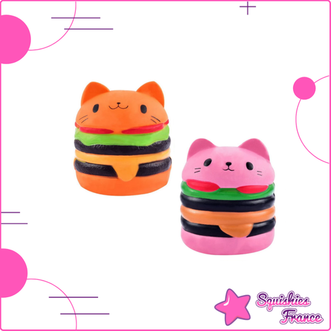 Squishy Chat Burger - Animaux, Nourriture - Squishies France