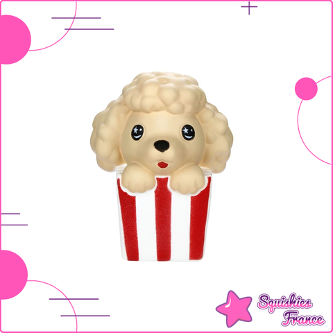 Squishy Chien Pop Corn - Animaux, Nourriture - Squishies France