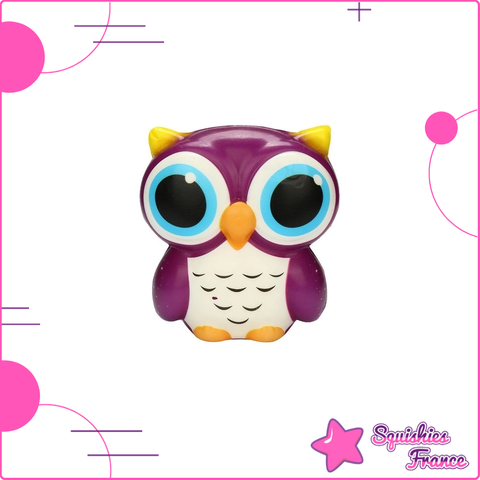 Squishy Hibou Violet - Animaux, Kawaii - Squishies France