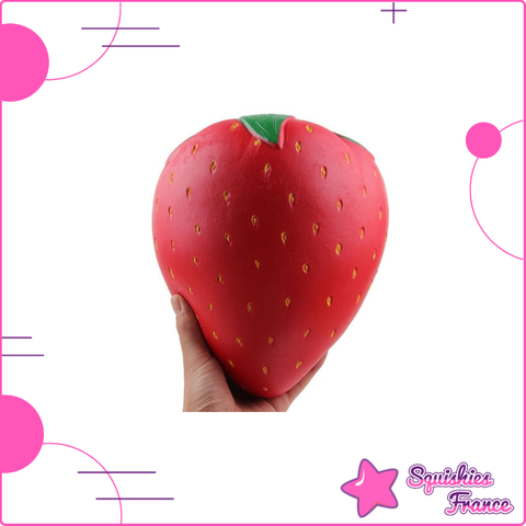 Jumbo Squishy fraise - Fruits, XXL - Squishies France