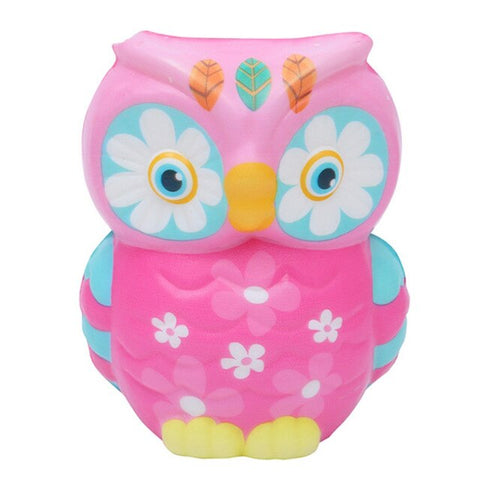 Squishy hibou indien rose - Animaux - Squishies France