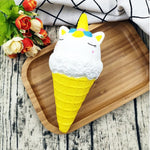 Squishy yellow unicorn ice cream cone