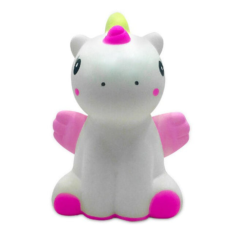 Squishy licorne assise blanche