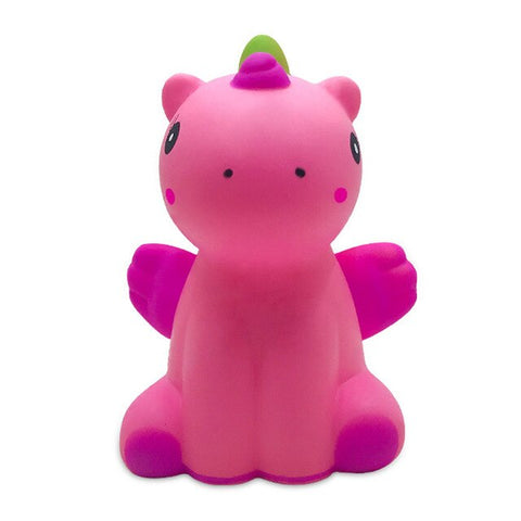 Squishy licorne assise rose
