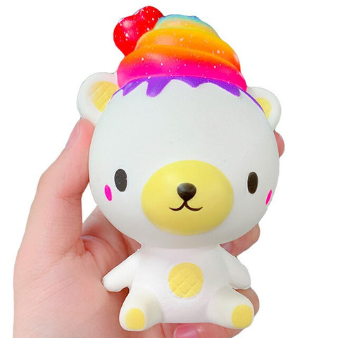 Squishy ourson glace arc-en-ciel
