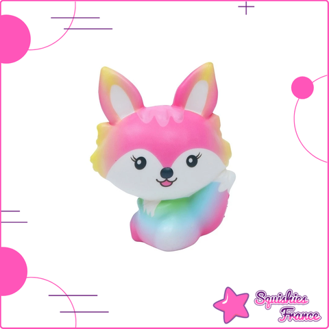 Squishy Renard Arc-en-ciel - Animaux, Arc-en-ciel - Squishies France