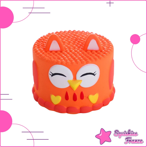 Squishy gâteau hibou orange - Animaux, Nourriture - Squishies France