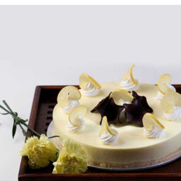 Eggless Lemon Cheesecake