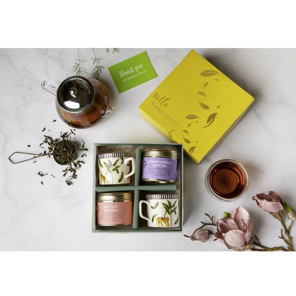 Hello Happiness Tea Gift Box with Cups