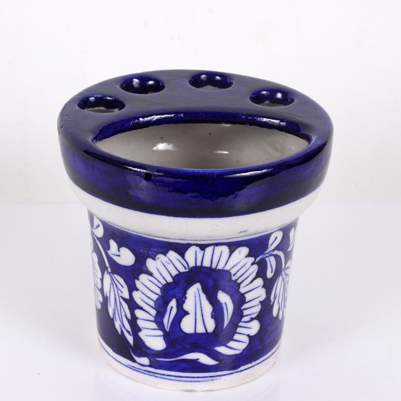 Blue Pottery Tooth Brush Stand
