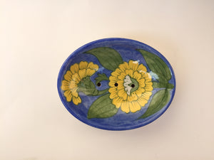 Blue Pottery Mughal Flower Soap Dish