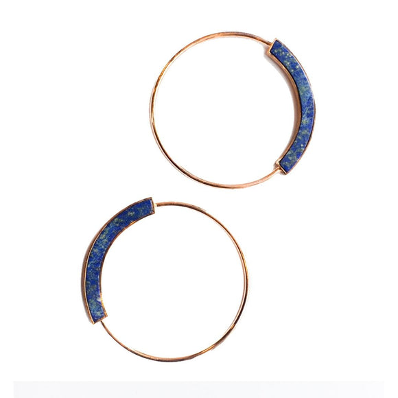Grande Semi Circle Lapiz Hoops