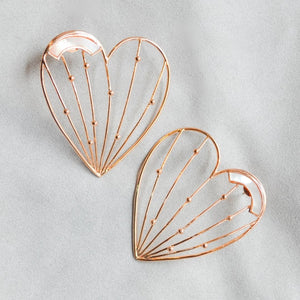 Heart-MoP Earrings