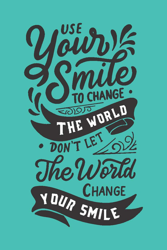 Smile To Change The World - Glass Framed Poster