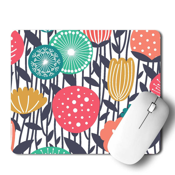 Floral Flower Mouse Pad