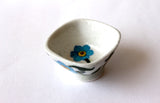 Blue Pottery Flower Designer Small Square Bowl