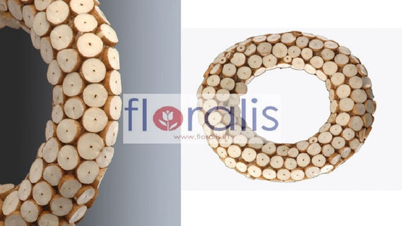 Sola Log Slice Wreath 32Cms