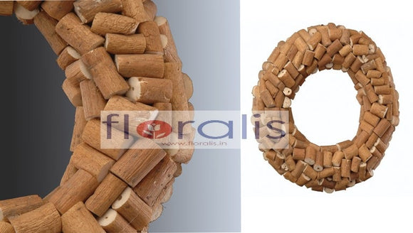 Sola Log Wreath 32Cms