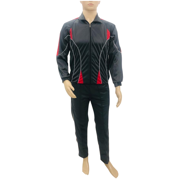 Super Poly Fabric Tracksuit Dark Grey
