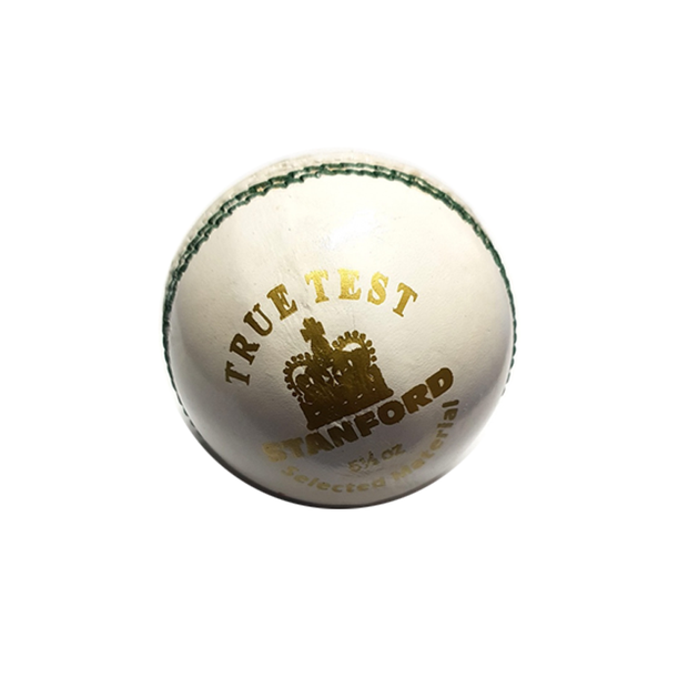 SF True Test Cricket Leather Ball White