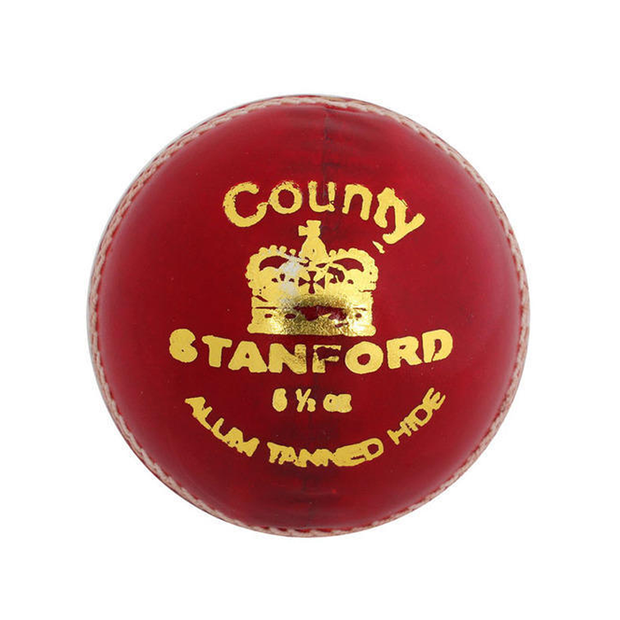 SF County Cricket Leather Ball Red