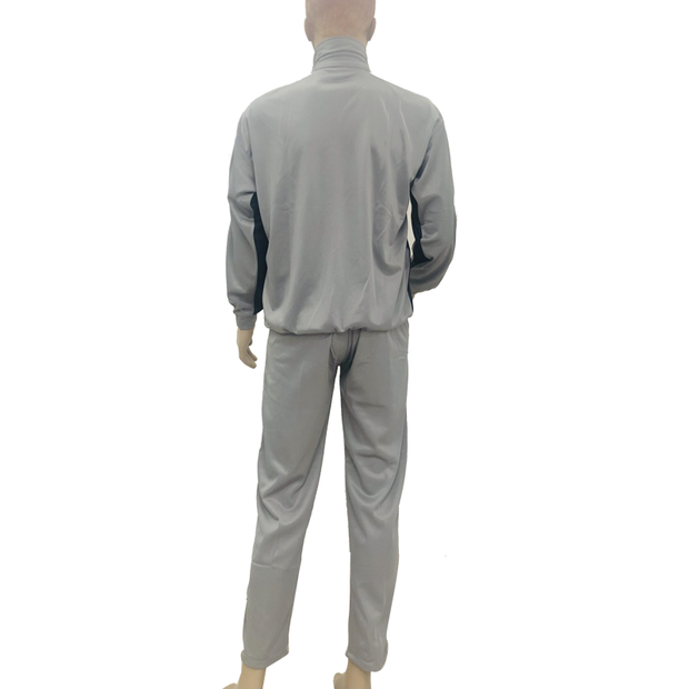 Super Poly Fabric Tracksuit Grey